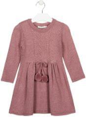 Losan dívčí pletené šaty 92 růžová