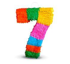 """Piňata číslo """"7"""" farebná - rozbíjacia"""