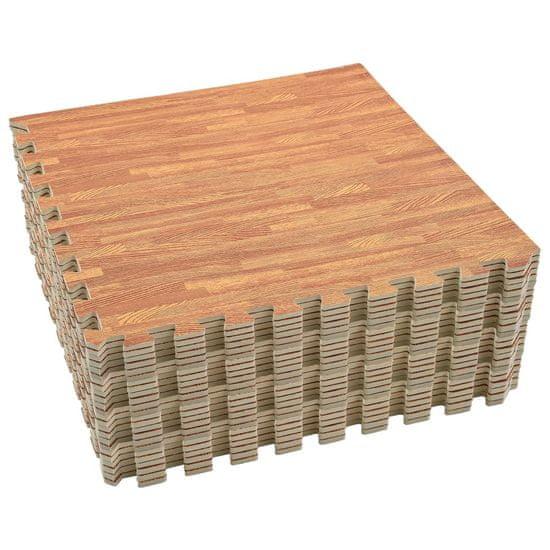 Greatstore Podložky na cvičení 24 ks kresba dřeva 8,64 ㎡ EVA pěna