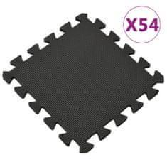 shumee Podložky puzzle 54 ks 4,86 ㎡ EVA pěna černé