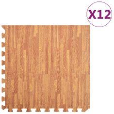 shumee Podložky na cvičení 12 ks kresba dřeva 4,23 ㎡ EVA pěna