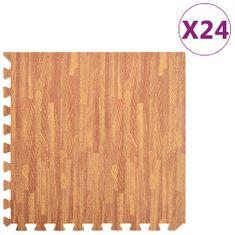 Podložky na cvičení 24 ks kresba dřeva 8,64 ㎡ EVA pěna