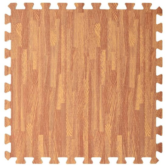shumee Podložky na cvičení 6 ks kresba dřeva 2,16 ㎡ EVA pěna