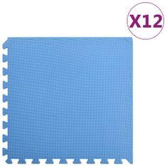 Podložky na cvičení 12 ks 4,32 ㎡ EVA pěna modré