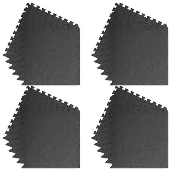 shumee Podložky na cvičení 24 ks 8,64 ㎡ EVA pěna černé