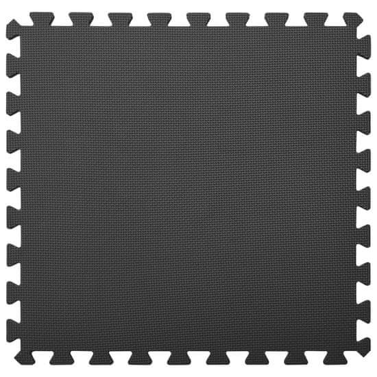 Greatstore Podložky na cvičení 6 ks 2,16 ㎡ EVA pěna černé