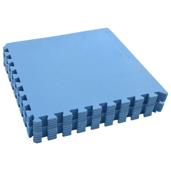 shumee Podložky na cvičení 12 ks 4,32 ㎡ EVA pěna modré