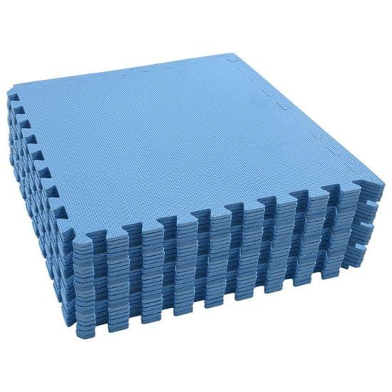 Greatstore Podložky na cvičení 24 ks 8,64 ㎡ EVA pěna modré