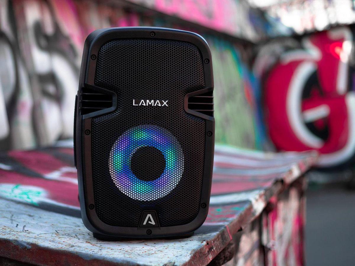 Vezeték nélküli LAMAX PartyBoomBox300 hangszóró bluetooth vezeték nélküli csatlakozás kábel csatlakozás true wireless stereo