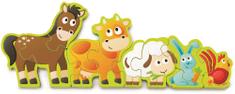 Hape puzzle Zwierzęta i liczby, 10 elementów