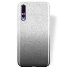 Silikonski ovitek Bling 2v1 za Samsung Galaxy S20 Plus G985, srebrno-siv