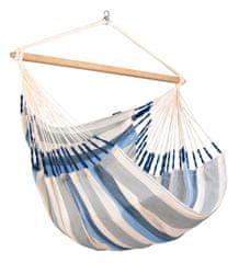LA SIESTA Domingo Kingsize viseč stol, Weather-Resistant, modro-bel