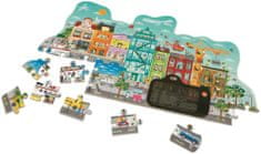 Hape Puzzle Animowane miasteczko, 49 elementów
