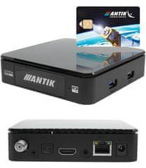 ANTIK Telecom Setobox NANO 3S s displejom + SAT dekódovacia karta