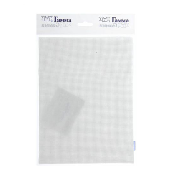 Gamma Bílá bavlněná kanava, základ pro vyšívání, č. 18, 18ct