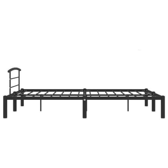 shumee Rama łóżka, czarna, metalowa, 140 x 200 cm