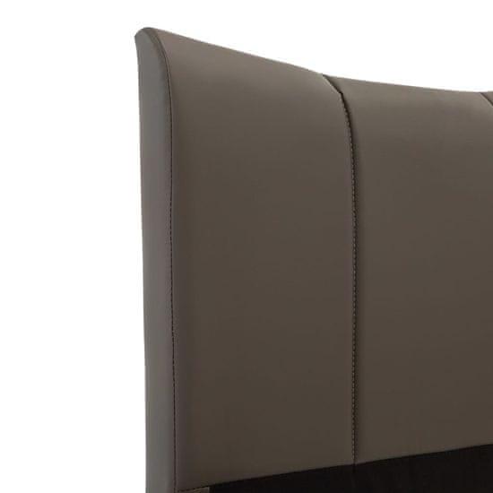shumee antracitszürke műbőr ágykeret 100 x 200 cm