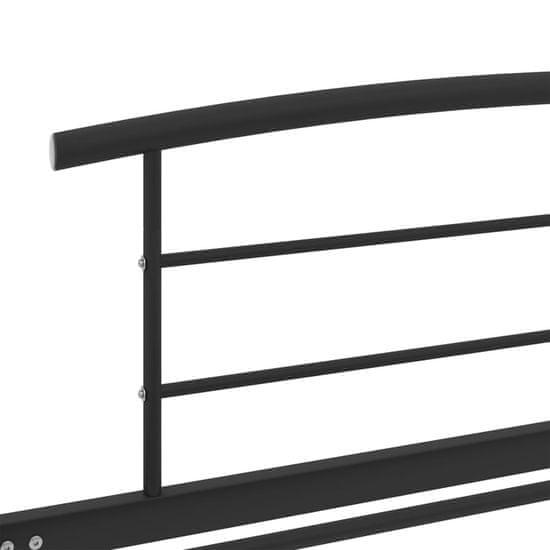 shumee Posteljni okvir črn kovinski 100x200 cm