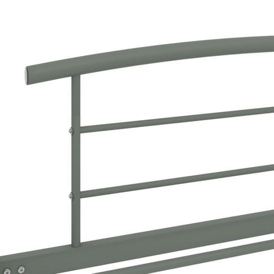 shumee Rám postele šedý kov 100 x 200 cm