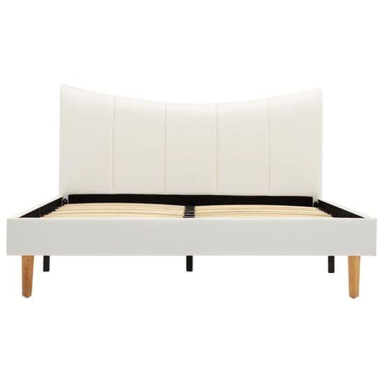 shumee fehér műbőr ágykeret 120 x 200 cm