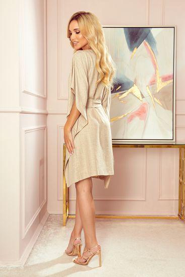 Numoco Női ruha 287-10 SOFIA + Nőin zokni Gatta Calzino Strech, bézs, L/XL