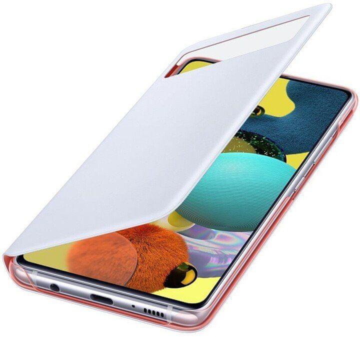 Samsung Flipové pouzdro S View Galaxy A51 5G EF-EA516PWEGEU, bílá - rozbaleno