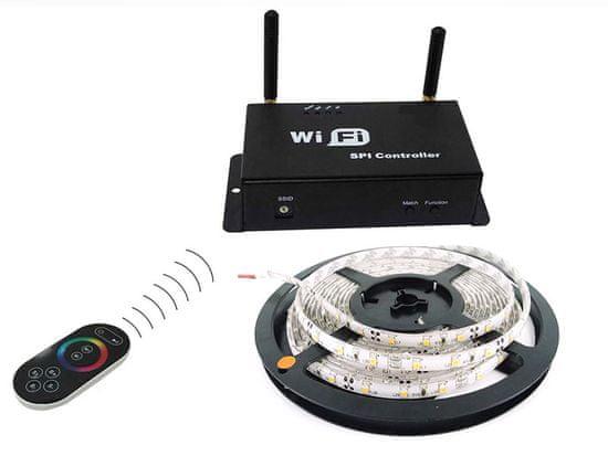 Ledia WiFi LED pás RGB 5m, SMD 5050, 60LED/m + WiFi kontroler, dálkové