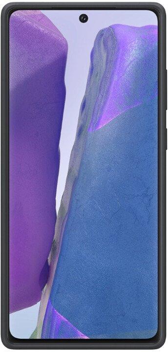 Samsung Silikonový zadní kryt pro Note 20 EF-PN980TBEGEU, černá