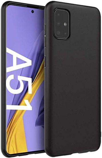 Maska za Samsung Galaxy A51, silikonska, mat crna
