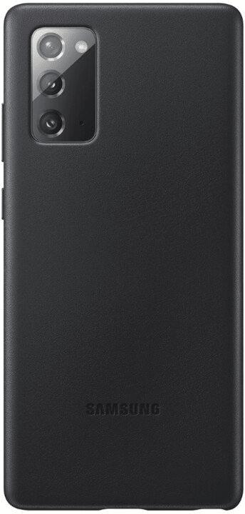 Samsung Kožený zadní kryt pro Note 20 EF-VN980LBEGEU, černá