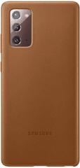 Samsung Kožený zadní kryt pro Note 20 EF-VN980LAEGEU, hnědá