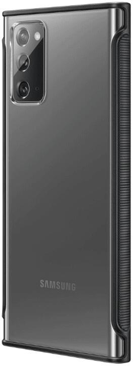 Samsung Průhledný ochranný kryt pro Note 20 EF-GN980CBEGEU, černá
