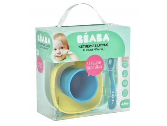 Beaba zestaw naczyń dziecięcych silikonowy, 4 szt.