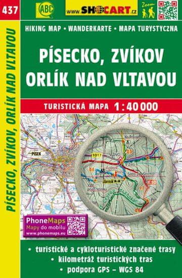 World Maps 437 Písecko, Zvíkov, Orlík nad Vltavou turistická mapa 1:40t SHOCart