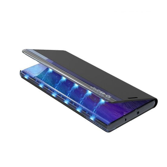 MG Sleep Case usnjeni ovitek za Samsung Galaxy S10 Lite, črna