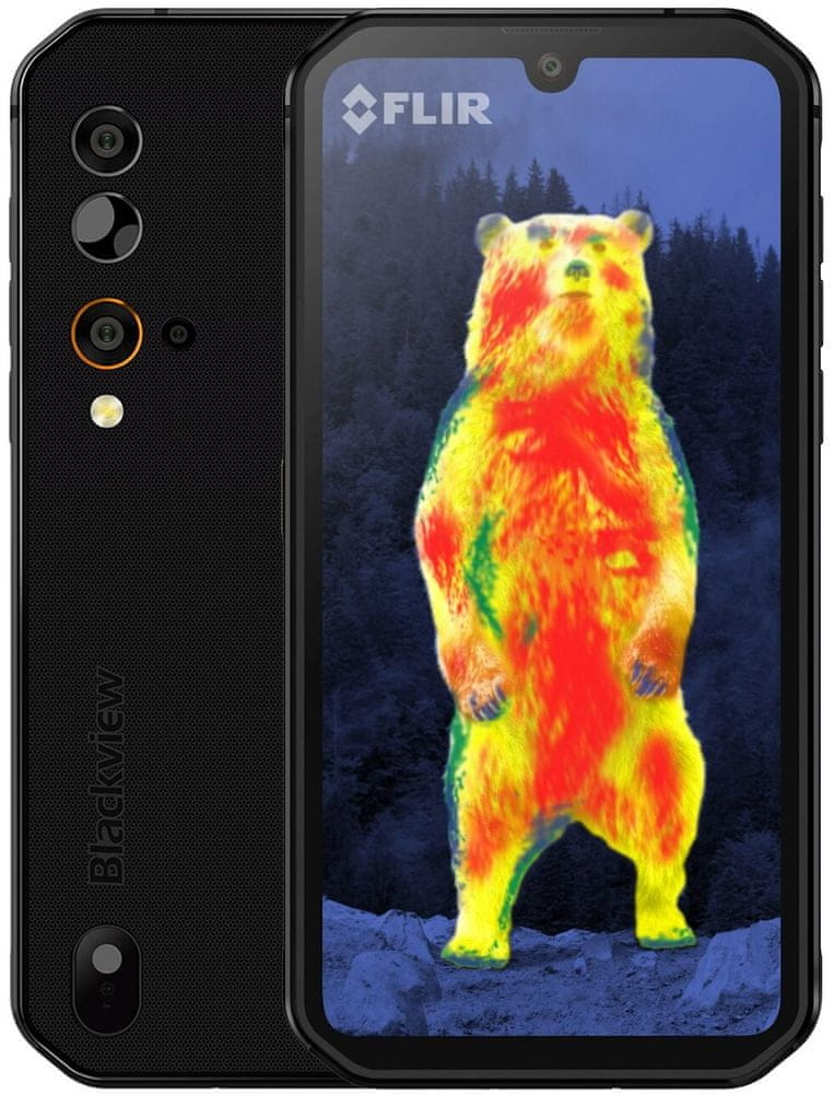 iGET Blackview GBV9900 Pro Thermo, 8GB/128GB, Black
