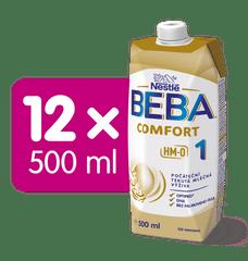 BEBA COMFORT 1 HM-O, počáteční tekutá mléčná výživa, 12x 500 ml
