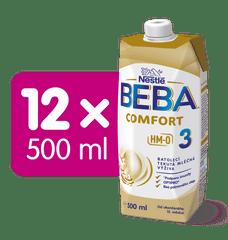 BEBA COMFORT 3 HM-O, batolecí tekutá mléčná výživa, 12x 500 ml