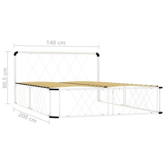 shumee Rama łóżka, biała, metalowa, 140 x 200 cm