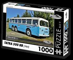 RETRO-AUTA© Puzzle BUS 9 - TATRA 500 HB (1964) 1000 dílků
