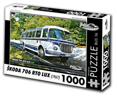 RETRO-AUTA© Puzzle BUS 16 - ŠKODA 706 RTO LUX (1967) 1000 dílků