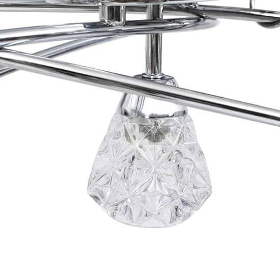 shumee Stropna svetilka s steklenimi mrežastimi senčniki 5xG9 žarnica