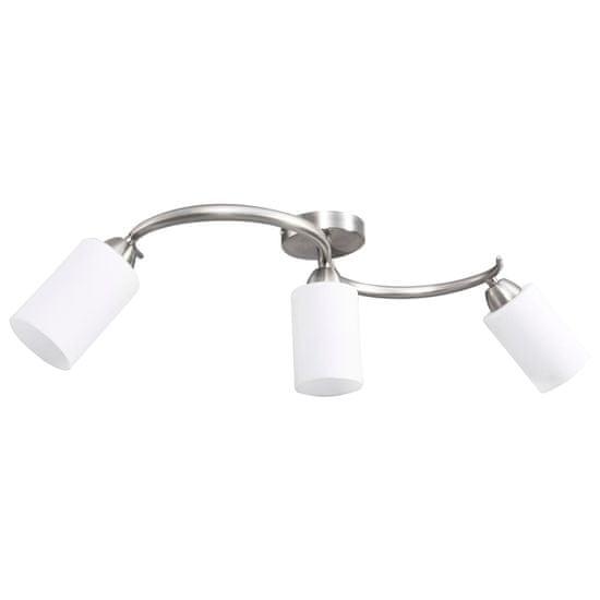 shumee Stropna svetilka s keramičnimi senčniki za 3 E14 žarnice bela