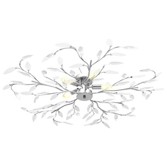 shumee Stropna svetilka z akrilnimi listi za 5 E14 žarnic bela
