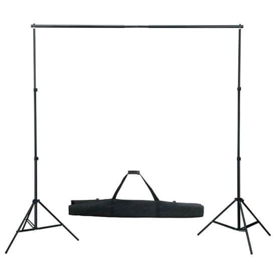 shumee Komplet za fotografski studio z ozadjem, svetilkami in dežniki