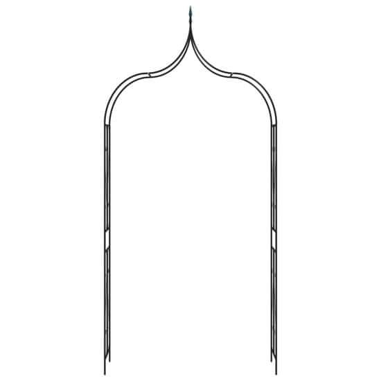 shumee fekete vas kerti boltív kapuval 120 x 38 x 258 cm