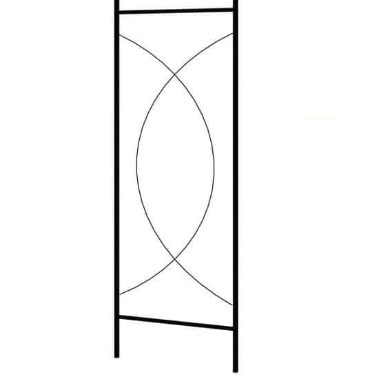 shumee Vrtni obok črne barve 150x34x240 cm železo