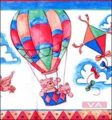 Vavex Papírová dětská bordura na zeď 1251803