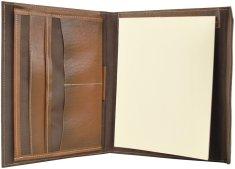 VegaLM Kožený pracovný zápisník A5, ručne tieňovaný vo svetlo hnedej farbe