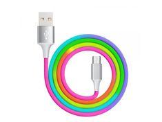 Tel1 Kabel USB Rainbow na micro USB QC 3.0 , 1 metr 590021735285